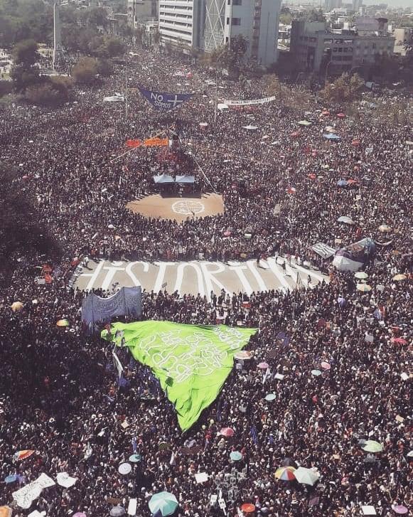chile διαδήλωση μέρα της γυναίκας 2020